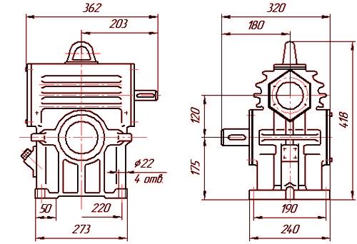 Наличие РЧН 120 и других червячных редукторов.
